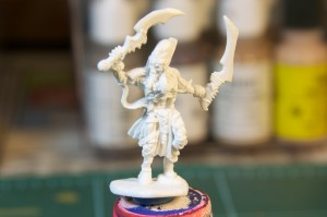 Unpainted model from the Reaper Bones Kickstarter